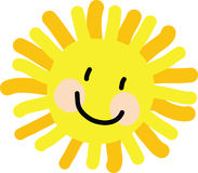 Desenho da criança de Sun Foto de Stock