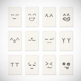 Desenho da emoção da face ilustração stock