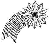 Desenho da estrela do Natal Imagem de Stock Royalty Free