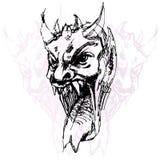 Desenho da face do demónio Imagem de Stock