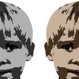 Desenho da face do menino ilustração royalty free