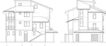 Desenho da fachada da construção fotografia de stock royalty free