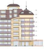 Desenho da fachada do edifício imagens de stock royalty free