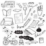 Desenho da garatuja da escola Imagem de Stock