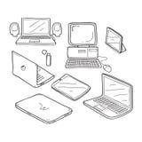 Desenho da garatuja do computador Imagem de Stock