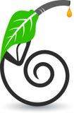 Logotipo do petróleo da folha ilustração stock