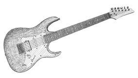 Desenho da ilustração do vetor da guitarra elétrica Imagens de Stock Royalty Free