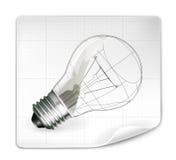 Desenho da lâmpada Imagens de Stock