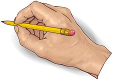 Desenho da mão ilustração royalty free