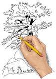 Desenho da mão Fotografia de Stock