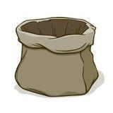 Desenho da mão de um curso vazio da escova do saco da lona ilustração royalty free