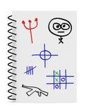 Desenho da mão dos meninos durante a classe Imagem de Stock