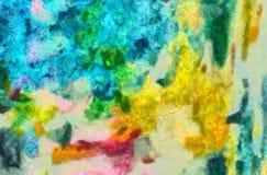 Desenho da mão na abstração do óleo Fundo da textura de Grunge Teste padrão do projeto do vintage Papel de parede creativo Arte m ilustração stock