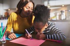 Desenho da mamã e da criança Imagens de Stock Royalty Free