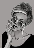 Desenho da mulher Imagem de Stock