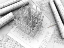 Desenho da planta Fotos de Stock