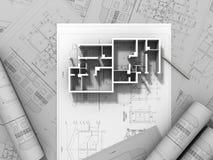 desenho da planta 3D Imagens de Stock Royalty Free