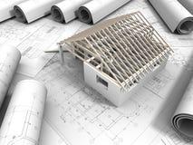 desenho da planta 3D Imagem de Stock