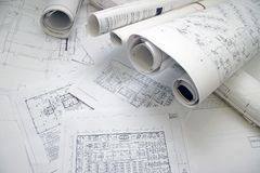 Desenho da planta de assoalho Imagem de Stock Royalty Free