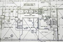 Desenho da planta de assoalho Foto de Stock Royalty Free