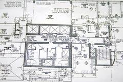 Desenho da planta de assoalho foto de stock