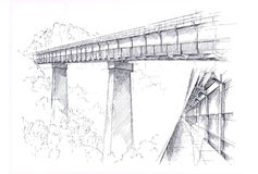 Desenho da ponte Foto de Stock