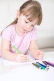 Desenho da rapariga foto de stock