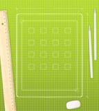 Desenho da tabuleta Fotos de Stock
