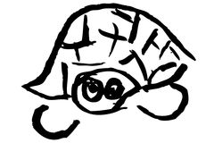 Desenho da tartaruga Imagem de Stock