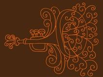 Desenho da trombeta Foto de Stock