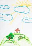 Desenho das crianças Foto de Stock