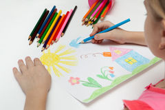 Desenho das crianças Foto de Stock Royalty Free