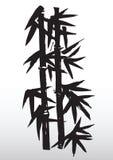 Desenho de bambu da silhueta Fotos de Stock