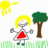 Desenho de Childs ilustração do vetor