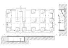 Desenho de construção foto de stock