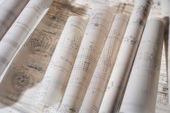 Desenho de construção Imagens de Stock Royalty Free