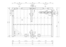 Desenho de construção de uma laje de assoalho Fotos de Stock Royalty Free
