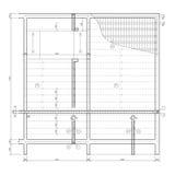 Desenho de construção, estrutura do teto Imagem de Stock Royalty Free