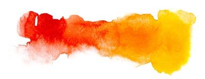 Desenho de cores quentes, feito na aquarela fotografia de stock royalty free