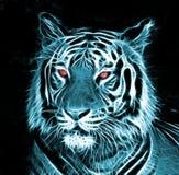 Desenho de Digitas de um tigre Foto de Stock