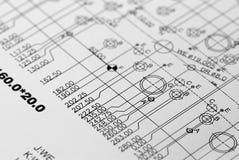 Desenho de engenharia Foto de Stock