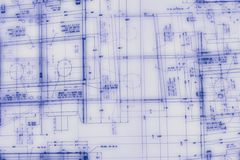Desenho de engenharia abstrato Imagem de Stock