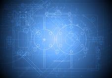 Desenho de engenharia alta tecnologia Fotografia de Stock