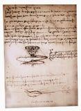 Desenho de engenharia de Leonardo Fotografia de Stock Royalty Free