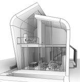 Desenho de esboço arquitetónico Foto de Stock
