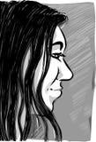 Desenho de esboço da mulher Fotografia de Stock Royalty Free