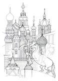 Desenho de esboço de St Petersburg Imagens de Stock Royalty Free