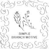 Desenho de esboço simples de dois ramos Foto de Stock Royalty Free
