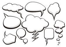 Desenho de esboço da coleção da conversa da bolha Imagens de Stock