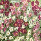 Desenho de flores cor-de-rosa brilhantes ilustração do vetor